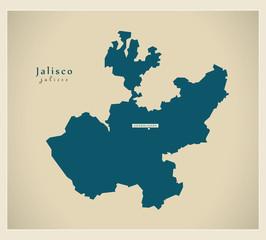 Modern Map - Jalisco MX