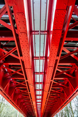 Foto auf Acrylglas Bridges Historic red railroad bridge