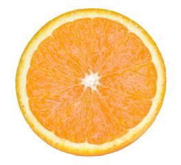slice of orange fruit isolated
