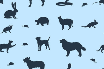 sap20 SeamlessAbstractPattern - pet shop various pets v7 - g3020