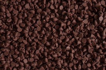 Chocolate chips food background