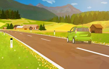 Fototapete - Car trave
