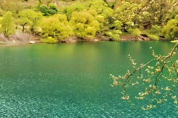 Mountain Lake View - Watercolor