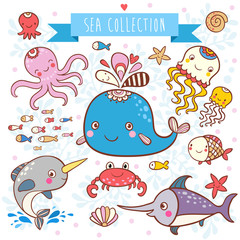 Sea Animals Collection.