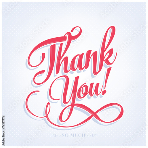 Thank You Typography Stock Image And Royalty Free Vector