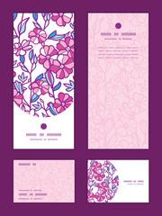 Vector vibrant field flowers vertical frame pattern invitation