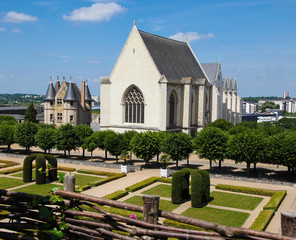 Chapel at the Castle of Angers, Loire valley, France