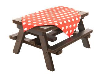 Autocollant pour porte Pique-nique wooden picnic table