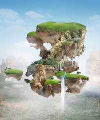 Keuken foto achterwand Eiland floating island