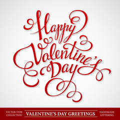 Typography Valentine's Day Vector illustration