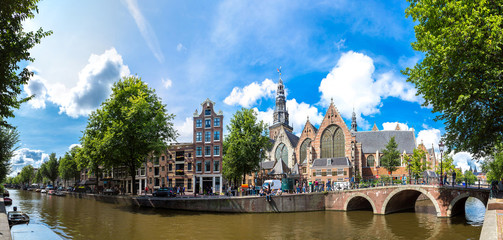 Canvas Prints Amsterdam Oude Kerk (Old Church) in Amsterdam