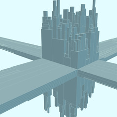 Geometric Vector Background. Abstract city.