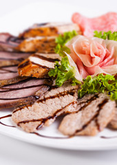 Delicious and tasty meat dishes.