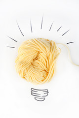Symbol of idea as light bulb
