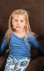 Pretty little girl doesn't feel good