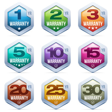 Warranty Seal Metal Badge