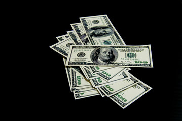Background with money american dollar bills