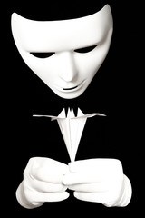 White mask and origami