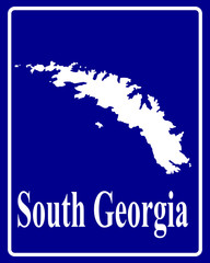 silhouette map of South Georgia