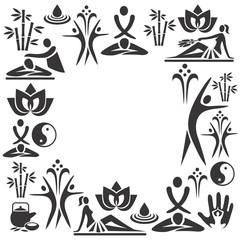 Spa massage decorative frame