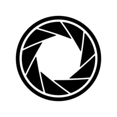 The diaphragm icon. Aperture symbol.
