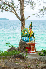Statue on island of Phuket, Thailand