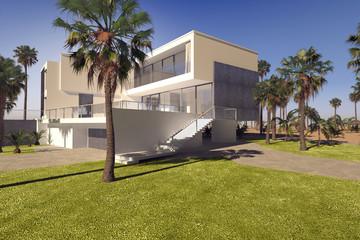 Modern geometric luxury tropical villa