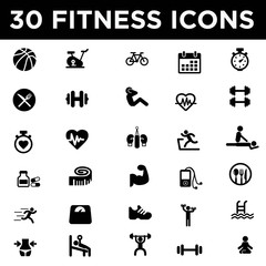 Health and Fitness Icon Set
