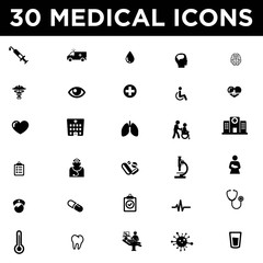 Medical and Hospital Icon Set