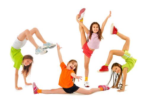 Happy sporty children
