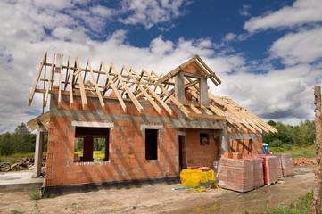 Fototapeta budowa domu obraz