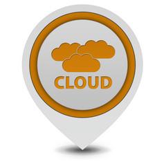 Cloud pointer icon on white background