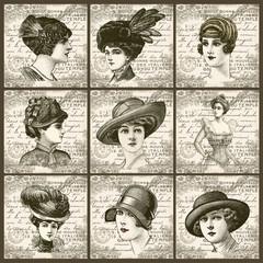 Wall Mural - Portraits de femmes