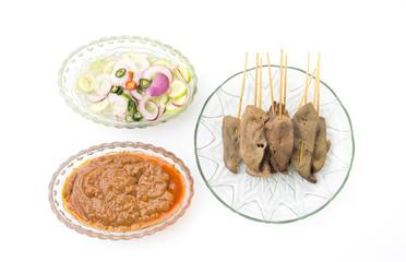 pork liver Satay with Peanut Sauce