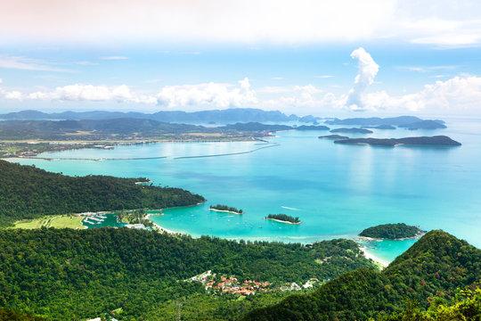 Tropical Langkawi Island landscape, Malaysia