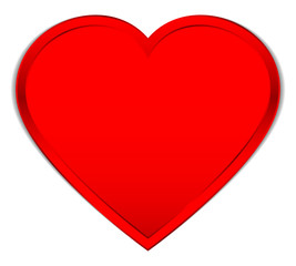 Single Red Heart