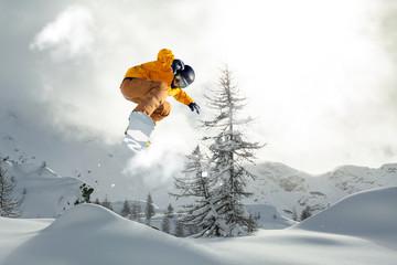 Fototapete - snowboarder freerider