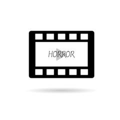 film tape horror vector illustration