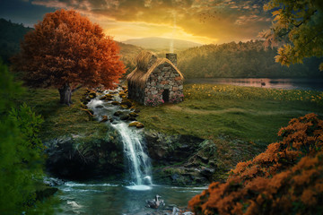 Peaceful cottage Wall mural