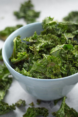 Bowl of Homemade Kale Chips
