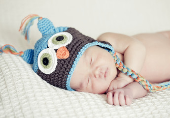 Sleeping Newborn Baby Portrait