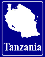 silhouette map of Tanzania