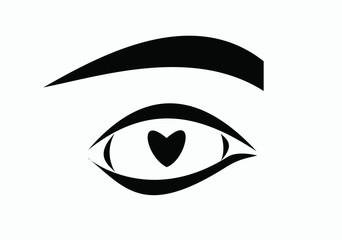 heart in eye I