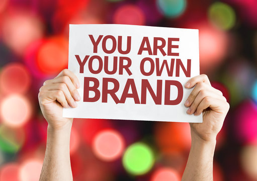 You are Your Own Brand card with colorful background