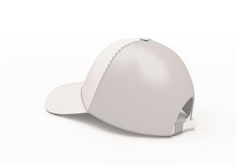 White baseball cap template back side