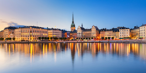 Photo sur Plexiglas Stockholm Gamla Stan at night in Stockholm