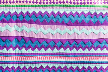 Colorful Thailand style rug surface fabric