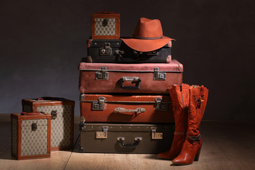 The suitcases