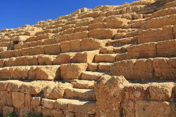 Hippodrome Steps and Seats in Caesarea Maritima National Park