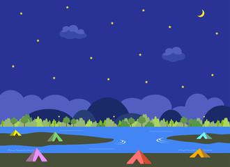 キャンプ 夜